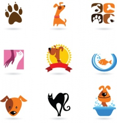 Dog cat pets vector