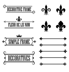 Set of vintage frames deviders and borders vector