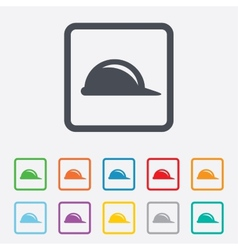 Hard hat sign icon construction helmet symbol vector