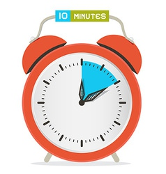 10 - ten minutes stop watch - alarm clock vector