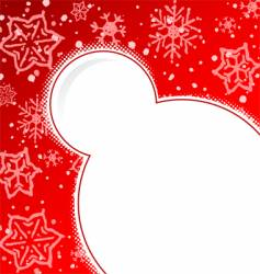Ugly snow background vector