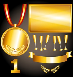 Gold elements for games and sports vector