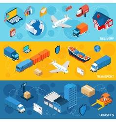 Logistics banner set vector