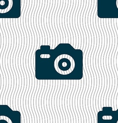 Photo camera icon sign seamless pattern with vector