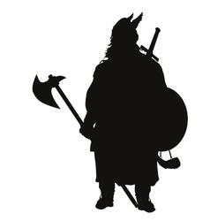 Viking silhouette warriors theme vector