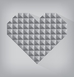 Retro heart triangle abstract love valentine day vector