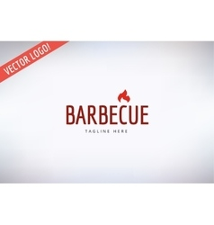 Barbecue and food logo outdoor kitchen or vector