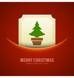 Christmas green tree card background vector