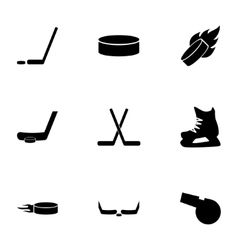 Hockey icon set vector