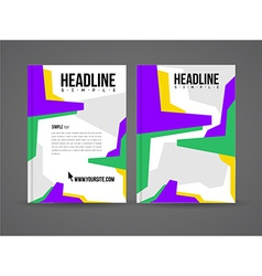 Design flyer template vector