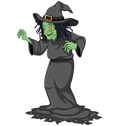 A scary old witch vector
