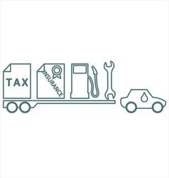 Car costs vector