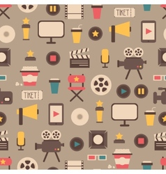 Seamless pattern of flat colorful movie design vector