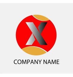 Letter x logo symbol template elements vector