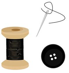 Tailor set black vector