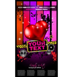 Valentines music club event poster vector