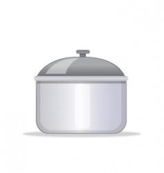 Kitchen pot vector