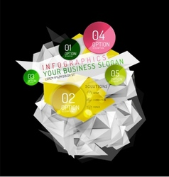 Business abstract triangular infographics layout vector