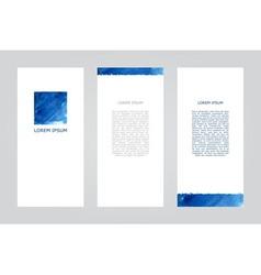 Blue square brochure vector