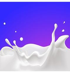 Splash of milk - with violet background vector