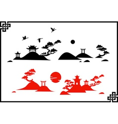 Abstract chines landscapes vector