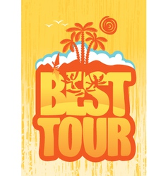 Best tours vector
