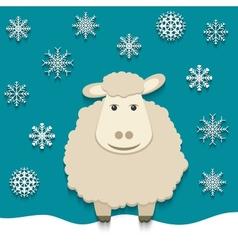Sheep - symbol of 2015 vector