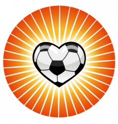 Soccer heart vector