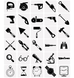 Icons of tools and devices vector