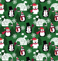Winter fun seamless background vector