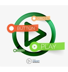 Play button infographic concept vector