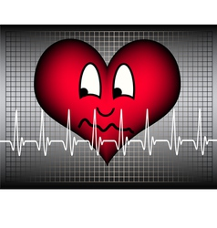 Anxious looking heart vector