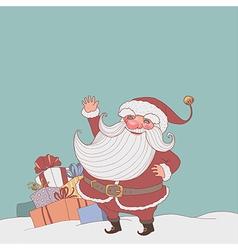 Santa gifts vector