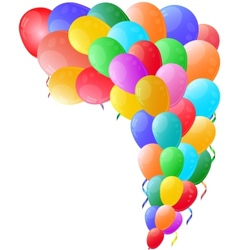 Color background with glossy balloon vector