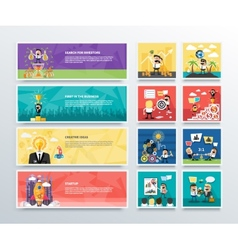 Set of business character banners vector