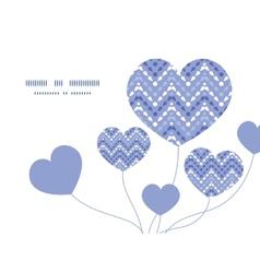 Purple drops chevron heart symbol frame vector