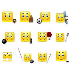 Emoticons and sports vector