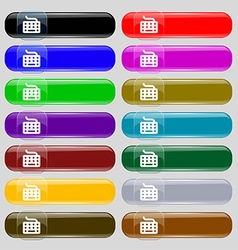 Keyboard icon sign big set of 16 colorful modern vector