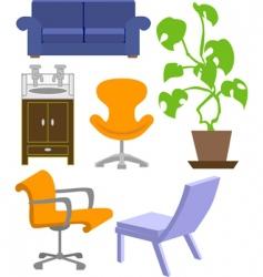 Furniture set vector
