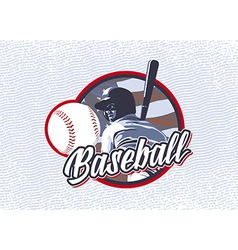 Baseball flag usa label vector