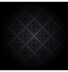 Black damask background vector