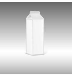 Blank grey juice or milk packaging with label vector