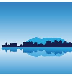 Cape town skyline vector