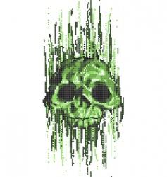 Computer virus skull vector