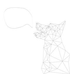 Dog abstract vector