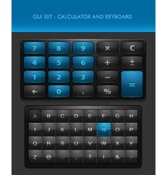 User interface elements - calculator and ke vector
