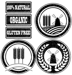 Rubber stamps labels vector