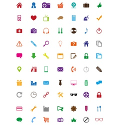 Creative colorful icons collection vector