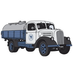 Old dairy truck vector