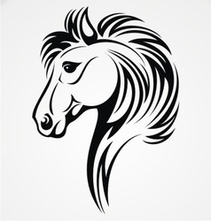 Horse head tribal vector